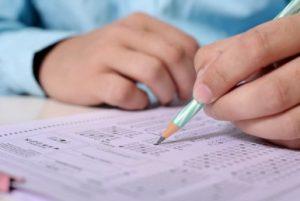 doing an exam